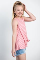 sandy toes striped top-blush