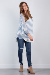 that fall feeling sweater-blue
