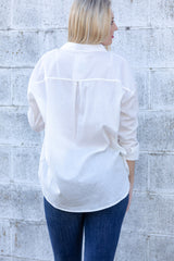 go with class button down top-ivory