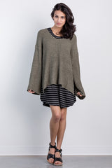 spring breeze bell sleeve sweater