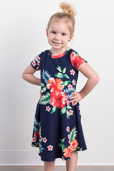 tropical cutie toddler dress