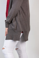 effortless style cardi-charcoal