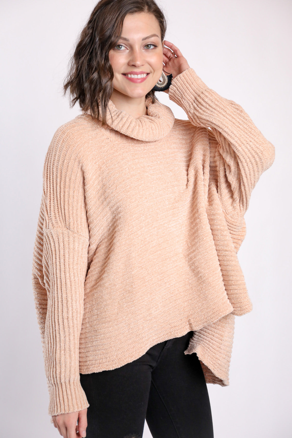 Oh You Fancy Chenille Sweater Blush