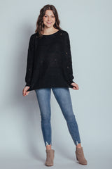can't go wrong sweater-black