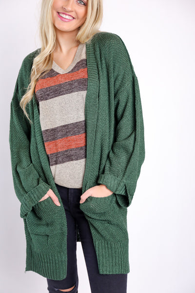 exactly what I needed cardigan - hunter green