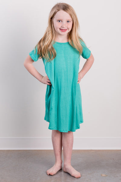 basic shirt dress-seafoam
