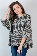 come on fall hacci top-charcoal