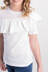 ruffle basic top
