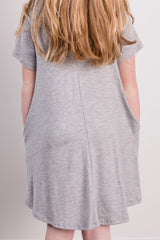 basic shirt dress-grey