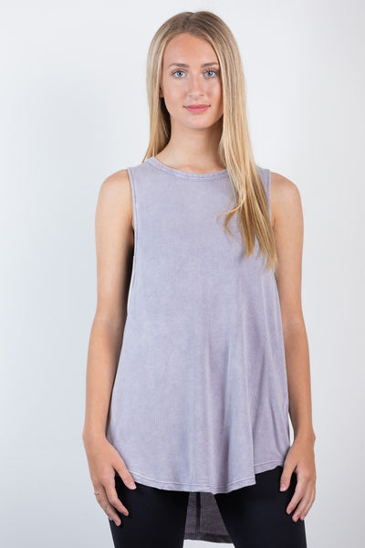 braided back active tank-lavender