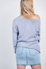 the cool side light sweater-blue