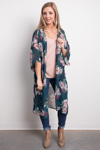 vacay on the mind kimono
