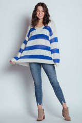 step to the beat striped sweater