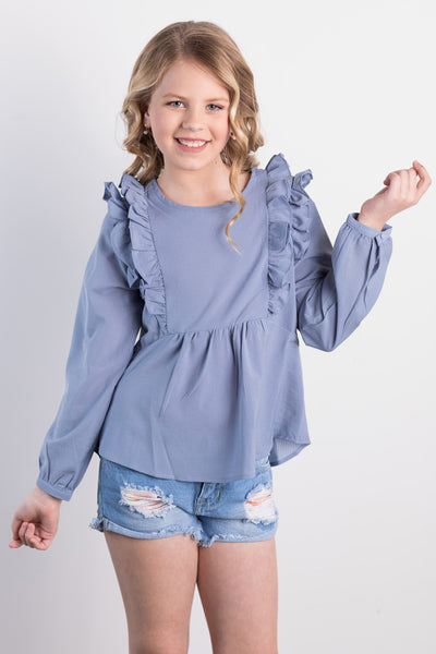monday blues girls top