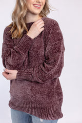give it a rest sweater - plum