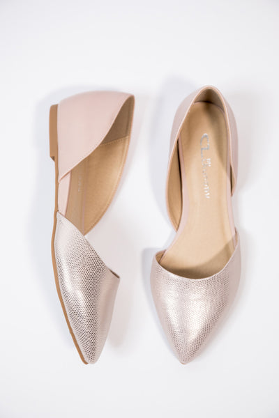 hearty rose gold flat