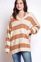 stripes all day sweater