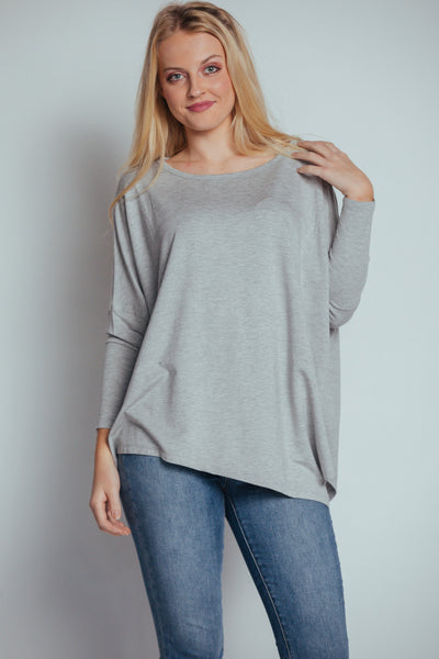 taking a personal day top-heather grey