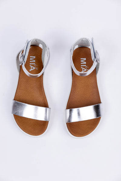 little ellen girls sandal-silver
