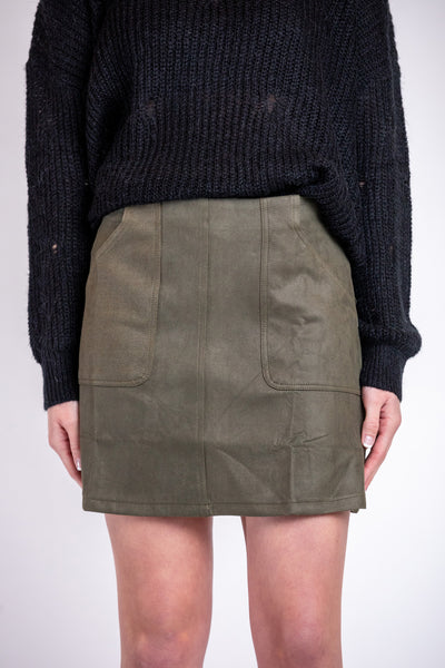 can't live without it skirt-olive