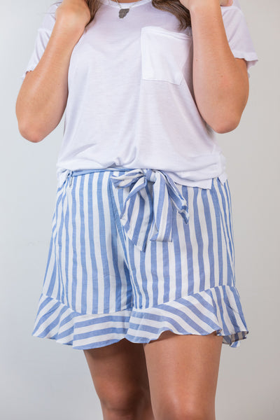 stuck in summer tie front shorts