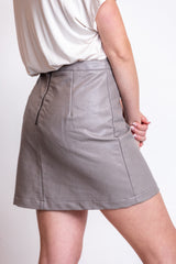 perfect match leather skirt-stone