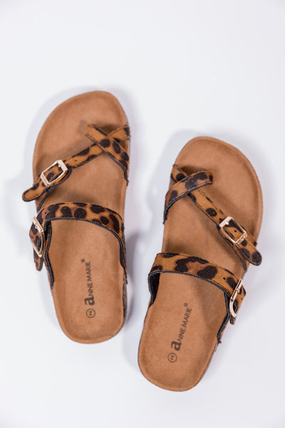 girls glory leopard sandals