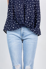 look my way top-navy
