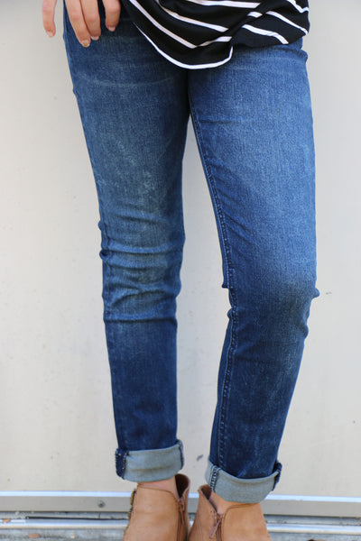 dark blue skinny by seven