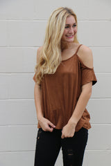 suede holiday top