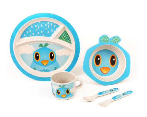 Green Frog Friends, Bamboo Kids Meal-Set,  'The Bird'
