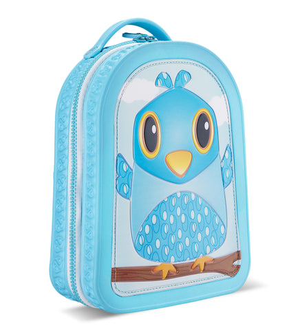 Green Frog Friends Lunchbag-Backpack, Bird