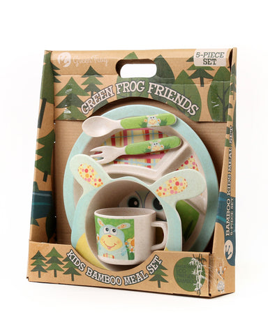 Green Frog Friends, Bamboo Kids Meal-Set,  'The Bunny'