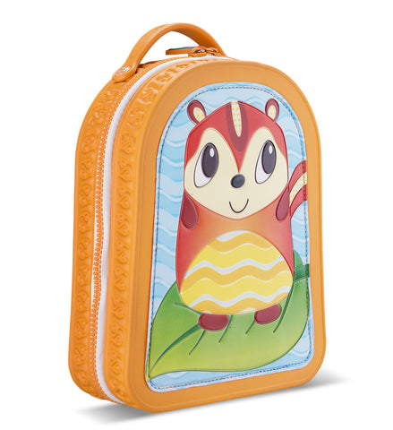 Green Frog Friends Lunchbag-Backpack, Chipmunk
