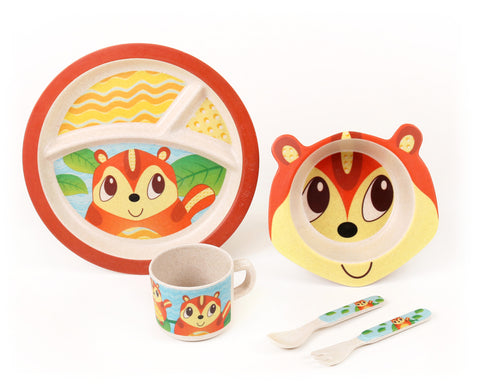 Green Frog Friends, Bamboo Kids Meal-Set,  'The Chipmunk'