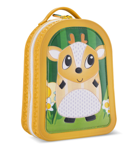 Green Frog Friends Lunchbag-Backpack, Deer