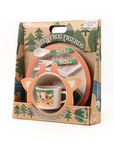 Green Frog Friends, Bamboo Kids Meal-Set,  'The Deer'