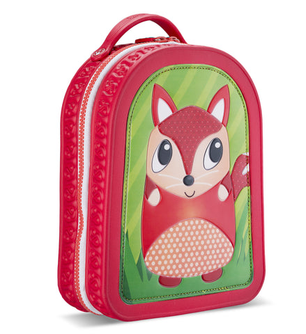 Green Frog Friends Lunchbag-Backpack, FOX