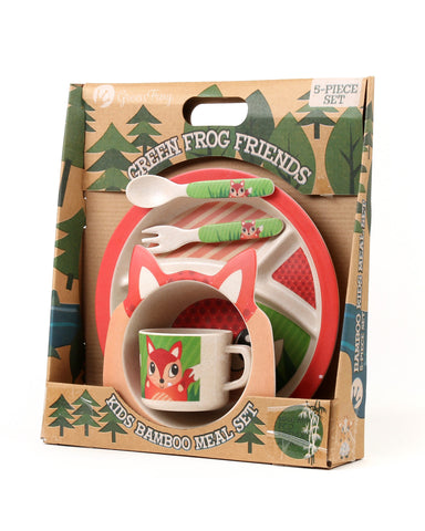 Green Frog Friends, Bamboo Kids Meal-Set,  'The Fox'