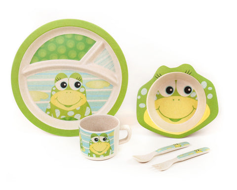 Green Frog Friends, Bamboo Kids Meal-Set,  'The Frog'