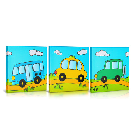 'Going Places' Gallery Wrapped Canvas  Art- 3 Piece Set