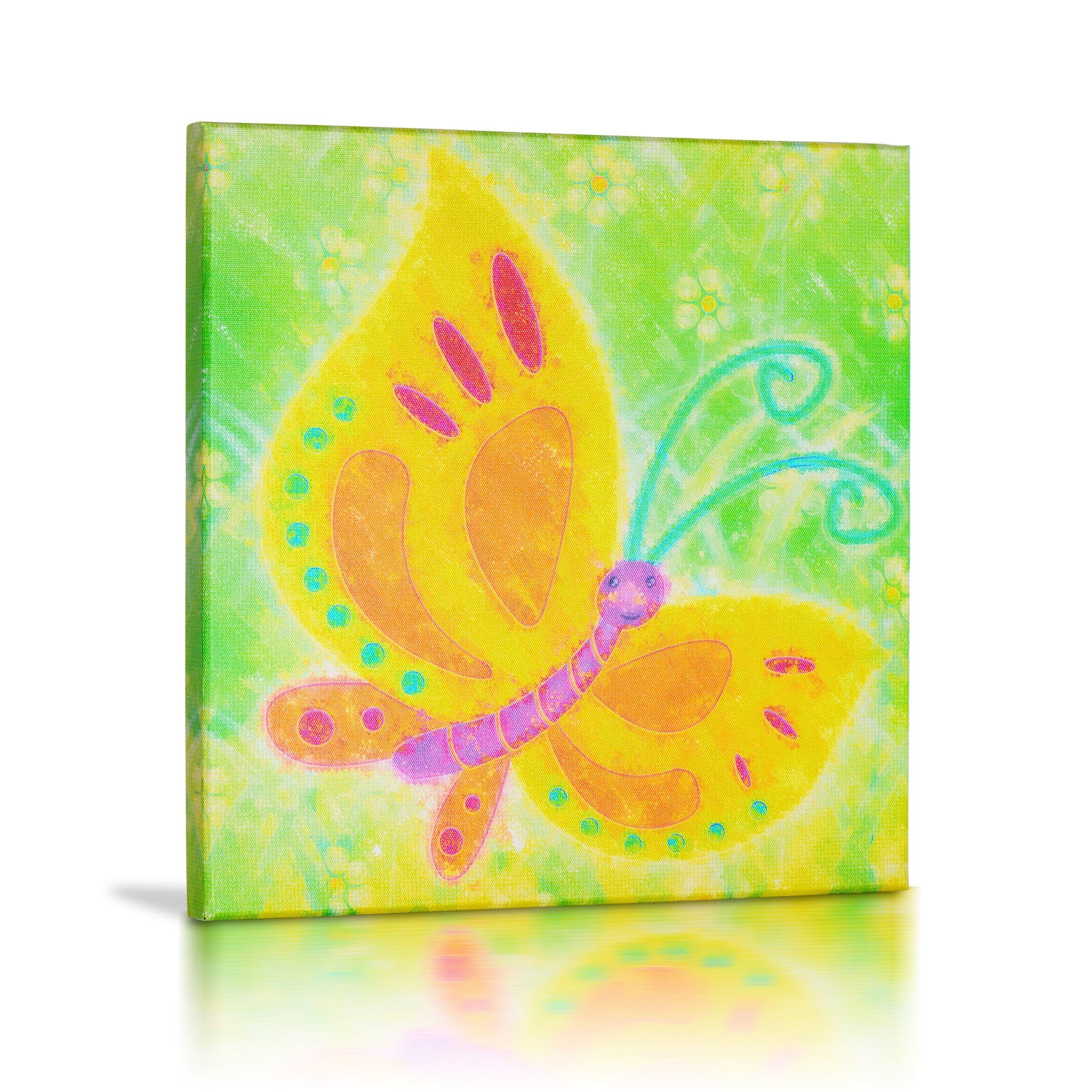 Snail, Butterfly & Dragonfly\' Gallery Wrapped Canvas Art - 3pc Set ...