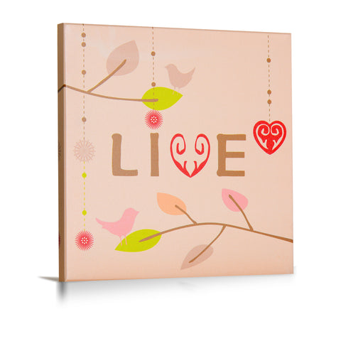 'Live, Love, Laugh' Gallery Wrapped Canvas Art