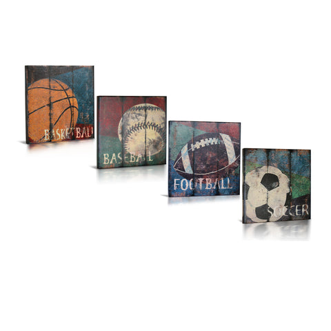 'Love the Game' Gallery Wrapped Canvas Art - 4pc Set