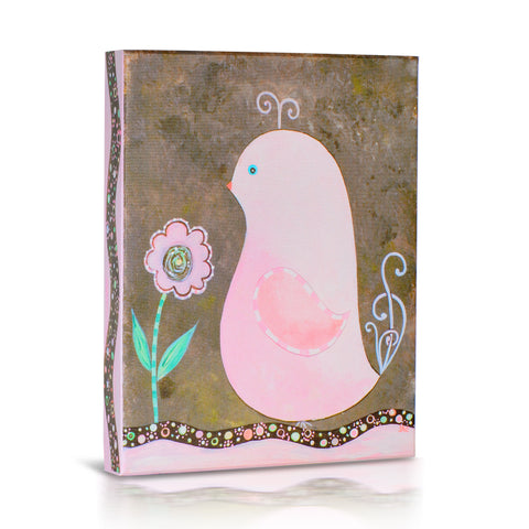 'Pretty Pink Bird' Gallery Wrapped Canvas Art