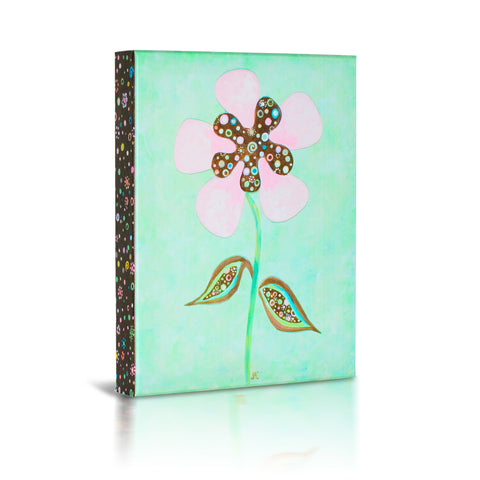 'Pretty Pink Flower' Gallery Wrapped Canvas Art