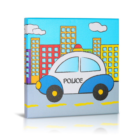 'Police' Gallery Wrapped Canvas Art