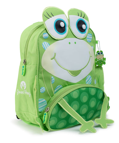 "Green Frog Friend's ""Frog"" Backpack"