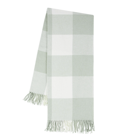 Buffalo Check Throw, Seaglass