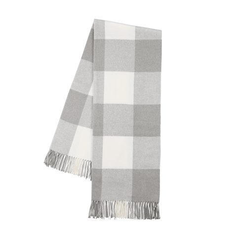 Buffalo Check Throw, Light Gray